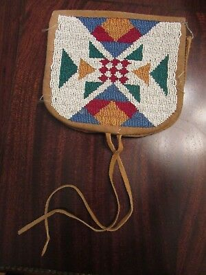 Northern Plains (Plateau? ) Heavily Beaded Large Belt Pouch