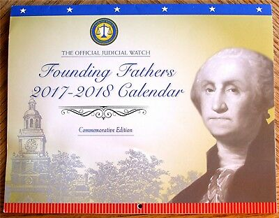 2018 Calendar Founding Fathers Presidents Washington Jefferson Adams Quotes NEW
