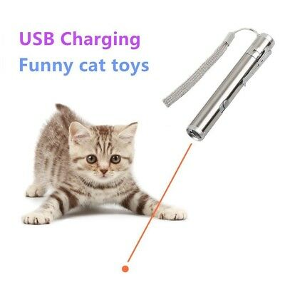 3 in 1 Multi Function Crazy Chase Cat Chaser Toys,Rechargeable LED Pet Red Dot T