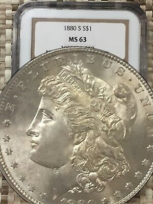 1880-S Morgan Silver Dollar Ngc Ms63 Dpl Deep Prooflike Rare Coin ~ A#5