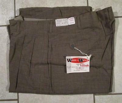 VINTAGE NOS 1950's PERFECT PANTS CO. WASH & WEAR FARM WORK WORKWEAR 36