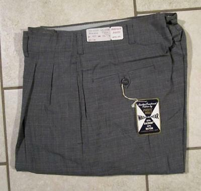 VTG NOS 1950's PACIFIC MILLS PERFECT PANTS CO. WASH & WEAR FARM WORK WORKWEAR 31