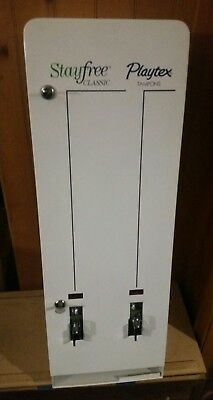 NOS Tampon and Napkin Vending Machine 25 cent never used with keys