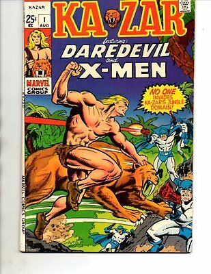Ka-Zar #1- Marvel 1970- Daredevil X-Men -VF