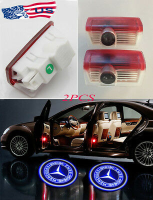 2X Ghost Car Door   LED Logo Welcome Light Laser Shadow for Benz C-Class W205
