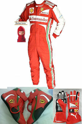 Ferrari Go Kart Race Suit Cik Fia Level 2 Approved Shoes With Free Gifts