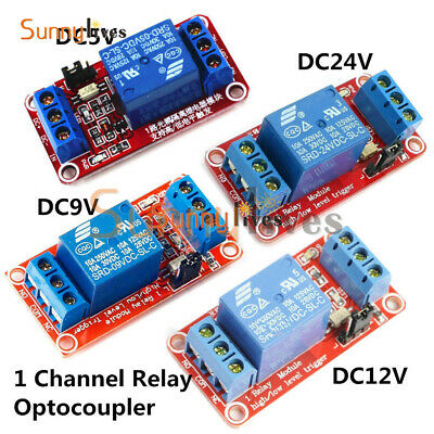 1 Channel DC 5V/9V/12V/24V Optocoupler Relay Module Support High and Low trigger
