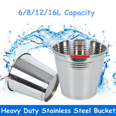Large Stainless Steel Ice Bucket Beer Wine Cooler Champagne Party Bar 6-16L