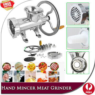 Heavy Duty Meat Mincer Manual Hand Wood Handle Grinder Operated Kitchen Tools