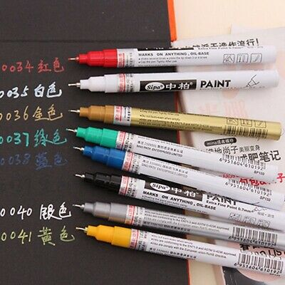 0.7MM Waterproof Permanent Paint Marker Pen Car Tyre Tire Tread Rubber Metal Kit