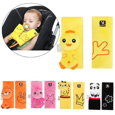 2x Baby Car Seat Belt Strap Cover Pad Stroller Highchair Pram Shoulder Protector
