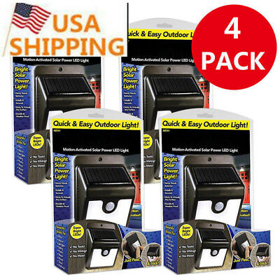 4 PACK Ever Brite 4 Led Outdoor Light-AS ON TV Everbrite Solar Powered&Wireless