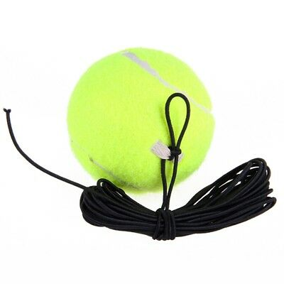 1Pc Rubber Woolen Tennis Training Ball With String For Single Practice Training