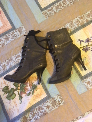 Brazilian Grey High Ankle Boots - slightly used