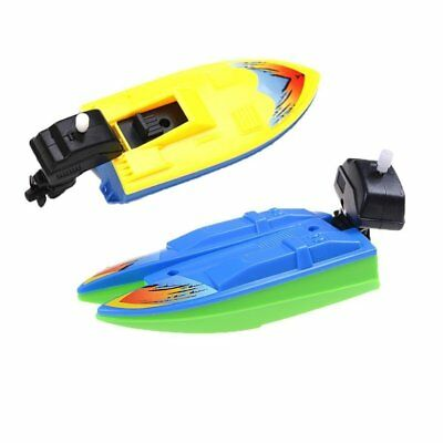 2 Pcs Swimming Boat Wind Up Bath Toys Floating Wind-Up Bathtub Fun Boats Toys Tu