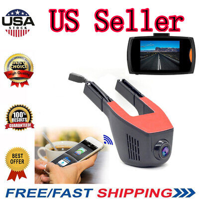 170 Degree 1080P HD Hidden Car DVR Dash Camera Video Recorder Cam Night Vision