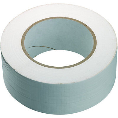 1x Duck White strong Duct Gaffa Gaffer Waterproof Cloth Tape 48mm 2'' 50m