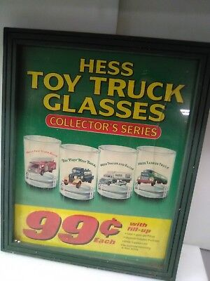 Hess Toy Truck Collector's Glasses Poster