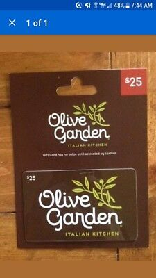 $25.00 Olive Garden Giftcard. Free Shipping!