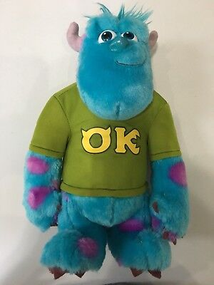 "Sully Sullivan Disney Pixar Monsters Inc. University 12"" Talking Plush TESTED"