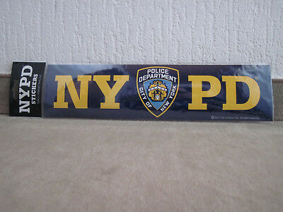 1 x 30 cm  NYPD New York Police Department Bumper Sticker Polizei Aufkleber  RAR