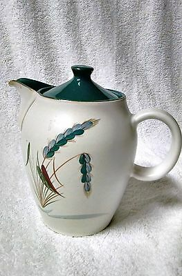"1950s Denby Stoneware Greenwheat, coffee / tea pot with lid, 6 3/8"" by A College"
