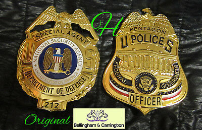 h7/ Historisches  badge+ choose Special Agent NSA OR Officer Pentagon Police B&C