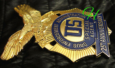 h7/ Historisches police badge / 25th Anniversary,  DEA US Special Agent