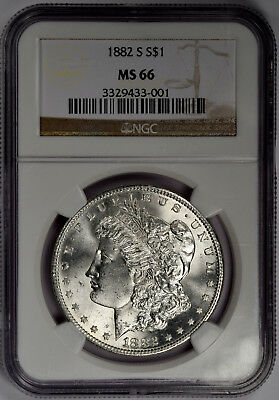 1882-S Morgan Dollar - Blast White Gem Ngc Ms66 - Priced Right!