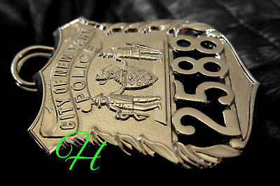 h7/ Historisches police badge + City of New York Police / NYCP