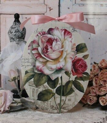 "~ ""Country Rose..."" Shabby Chic Vintage Country Cottage style Wall Decor. Sign ~"