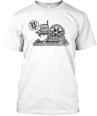Root &amp Van Dervoort Gas Engines Hit Miss - R & V Hanes Tagless Tee T-Shirt