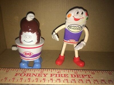 1998 Dairy Queen Sundae Walker And Blizzard Bendable Man