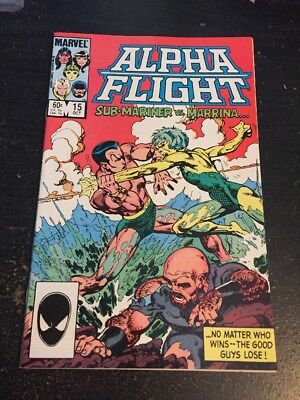 Alpha Flight#15 Incredible Condition 9.4(1984) Marrina Breakdown!Byrne Art!!