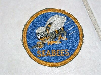 Wwii Us Army Navy Seabees Construction Maintenance Units Oval Patch Uniform