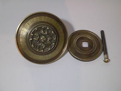 Rare!!! Unique Brass Bronze Antique Greek Floral  Door Knob ,handle !! 3,2 ''