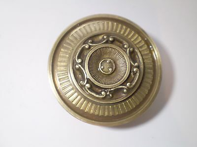 Rare!!! Unique Brass Bronze Antique Greek Sun Rays Door Knob ,handle !! 3,2 ''