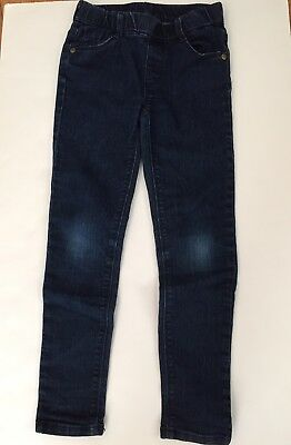 Gymboree 7 Slim Jeggings Jeans Denim Basic Cotton Solid Fall VGUC Skinny Pull on
