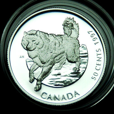 Canada 50¢ 1997 silver proof Eskimo dog:  Canada's Best Friends