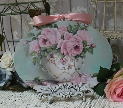 "~ Faded Roses"" ~ Shabby Chic Vintage Country ~ Cottage style ~ Wall Decor Sign ~"
