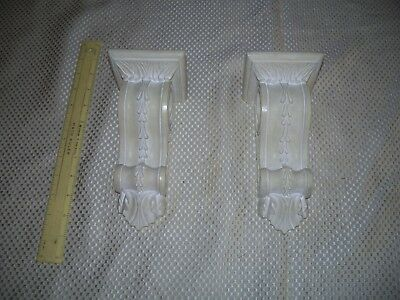 "White Resin Corbel Curtain Rod Holder  7 3/4 "" H  2 1/2 "" wide & "" W  X 3 1/2"