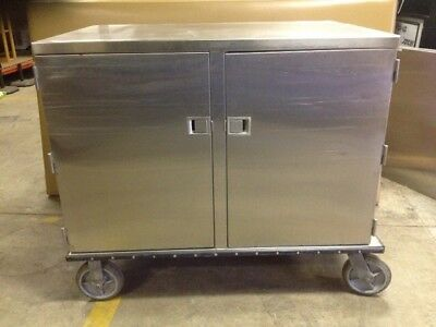 8 Lakeside Model 835 Double Door Stainless Steel Food Service Carts