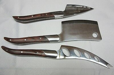 Legnoart Cheese Knives Enthusiast Setof 3 Piece Stainless Steel With Wood Handle