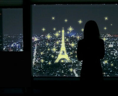 The Eiffel Tower Removable Art DIY Glow in The Dark Decal Home Room Wall Sticker