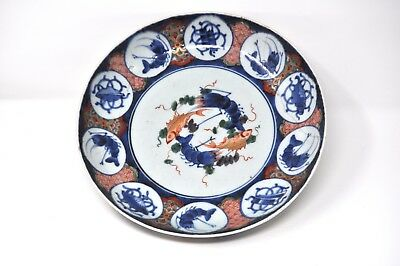Large Antique Imari Hand Painted Charger, Meiji Period (1868-1912), Arita made