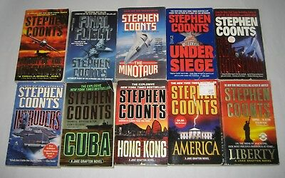 STEPHEN COONTS Lot Of 10 PBs JAKE GRAFTON Series 1 Complete