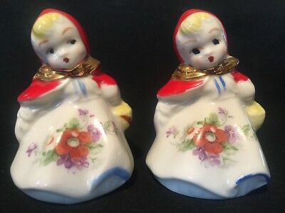 Vintage Hull Little Red Riding Hood Salt & Pepper Shakers