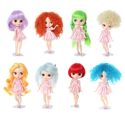 Trendy Doll Wig Hairpiece Curly/Straight Hair for 12'' Blythe Doll DIY Making