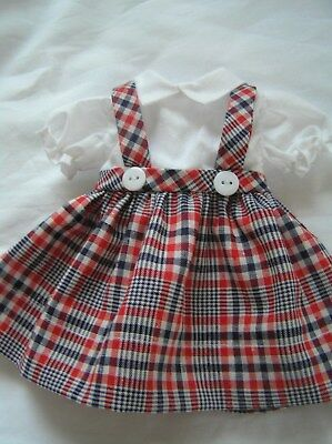 Red,White and Blue Plaid   Doll Dress for P-90 14 Inch  Toni Doll