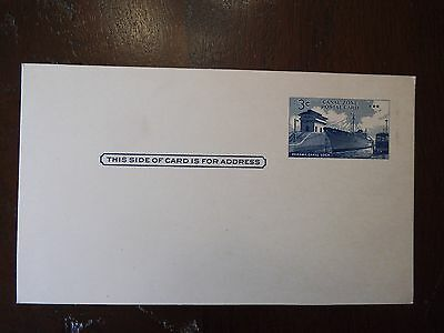 Scott # UX-12  CANAL ZONE 1958 US 3c Postal Card, Unused, Very Fine Condition!